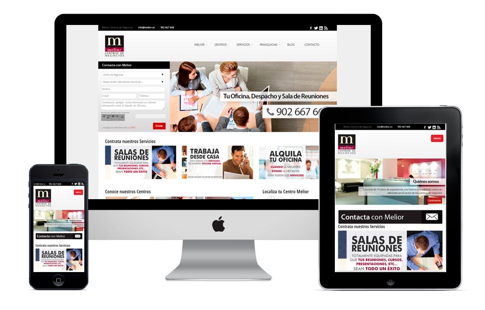 Pagina web Melior Centros de negocios responsive